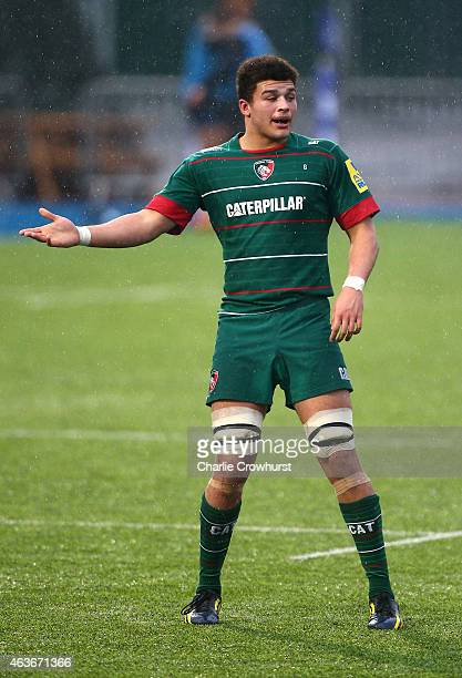 Will Evans of Leicester during the Premiership Rugby/RFU U18 Academy Finals Day match between Leicester and Bath at The Allianz Park on February 16...