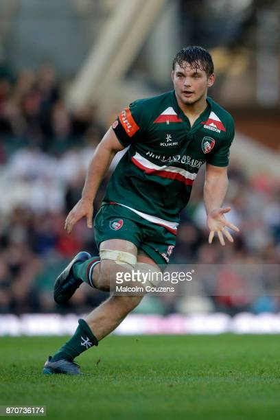 Will Evans of Leicester Tigers during the AngloWelsh Cup tie between Leicester Tigers and Gloucester Rugby at Welford Road on November 4 2017 in...