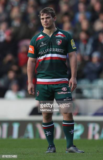 Will Evans of Leicester Tigers in action during the Aviva Premiership match between Leicester Tigers and Sale Sharks at Welford Road on November 19...