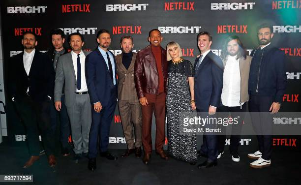 Will Farquarson and Dan Smith of Bastille Eric Newman David Ayer Joel Edgerton Will Smith Noomi Rapace Bryan Unkeless Chris Woody Wood and Kyle...