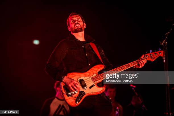 Will Farquarson bassistg and guitarist of British alternative rock band Bastille performs at Forum di assago Milan February 7 2017