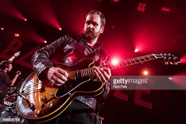 Will Farquarson from Bastille performs on stage at iHeartRadio Theater on September 6 2016 in Burbank California