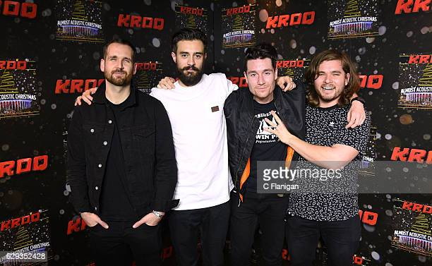 Will Farquarson Kyle Simmons Dan Smith and Chris Wood of the band Bastille attend 1067 KROQ Almost Acoustic Christmas 2016 Night 2 at The Forum on...