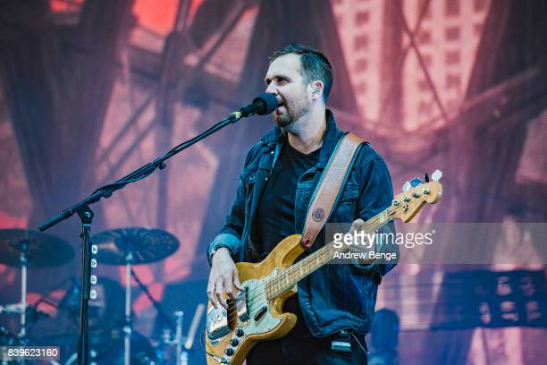 Will Farquarson of Bastille performs on the main stage during day 2 at Leeds Festival at Bramhall Park on August 26 2017 in Leeds England
