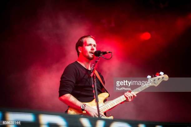Will Farquarson of the british indie band A Blaze Of Feather performing live at Lowlands Festival 2017 Biddinghuizen Netherlands