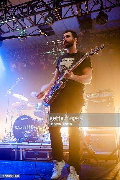 Will Farquason of Bastille performs on stage at The Corn Exchange on February 27, 2014 in Edinburgh, United Kingdom.