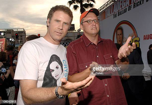 Will Ferrell and Adam McKay director during 'Talladega Nights The Ballad of Ricky Bobby' Red Carpet at Mann's Grauman Chinese Theater in Los Angeles...