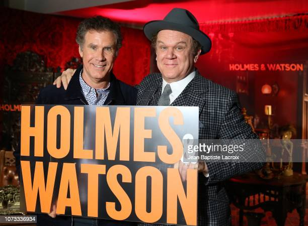 Will Ferrell and John C Reilly attend a photo call for 'Holmes Watson' on December 14 2018 in Los Angeles California