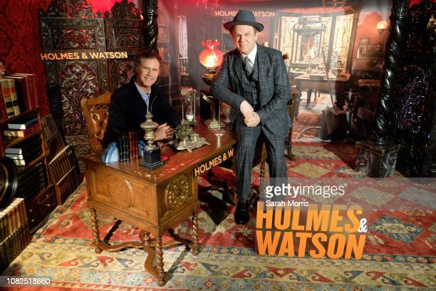 Will Ferrell and John C Reilly attend the 'Holmes Watson' photo call at The London West Hollywood on December 14 2018 in West Hollywood California