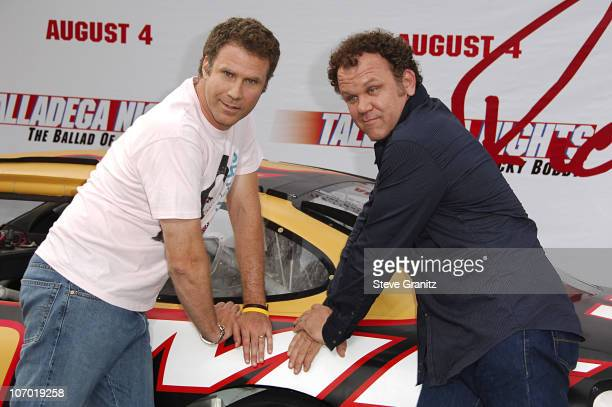 """Will Ferrell and John C. Reilly during """"Talladega Nights: The Ballad of Ricky Bobby"""" Los Angeles Premiere - Arrivals at Grauman's Chinese Theatre in..."""
