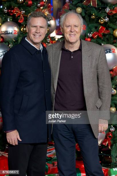 Will Ferrell and John Lithgow arrive at the UK Premiere of 'Daddy's Home 2' at Vue West End on November 16 2017 in London England