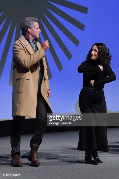 Will Ferrell and Julia LouisDreyfus onstage during the 2020 Sundance Film Festival Downhill Premiere at Eccles Center Theatre on January 26 2020 in...