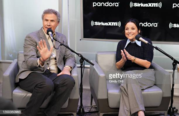 Will Ferrell and Julia LouisDreyfus take part in SiriusXM's Town Hall with the cast of 'Downhill' hosted by Andy Cohen on February 12 2020 in New...