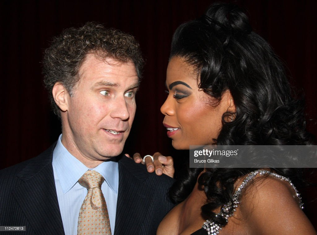 Will Ferrell and Pia Glenn attend the opening night of 'You're Welcome America. A Final Night with George W. Bush' at the Cort Theater on February 5, 2009 in New York City.