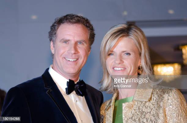 Will Ferrell and Viveca Paulin pose for photos on the red carpet during the 14th Annual Mark Twain Prize for American Humor at the John F Kennedy...
