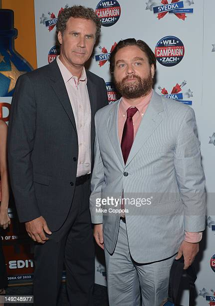 Will Ferrell and Zach Galifianakis attend The Campaign New York premiere at Landmark's Sunshine Cinema on July 25 2012 in New York City