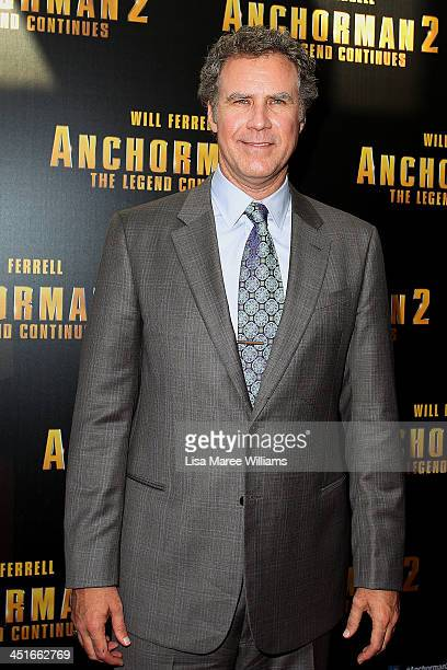 """Will Ferrell arrives at the """"Anchorman 2: The Legend Continues"""" Australian premiere at The Entertainment Quarter on November 24, 2013 in Sydney,..."""