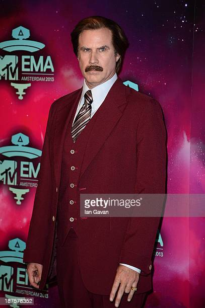 Will Ferrell as Anchorman's Ron Burgundy attends the MTV EMA's 2013 at the Ziggo Dome on November 10 2013 in Amsterdam Netherlands