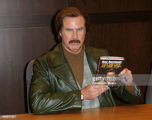 Will Ferrell as character Ron Burgundy signing for Let Me Off At The Top My Classy Life And Other Musings at Barnes Noble bookstore at The Grove on...