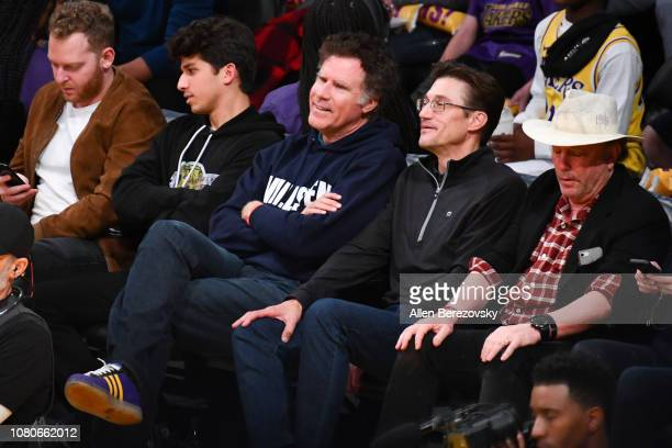 Will Ferrell attends a basketball game between the Los Angeles Lakers and the Miami Heat at Staples Center on December 10 2018 in Los Angeles...