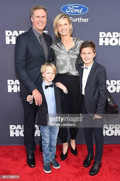 Will Ferrell Axel Paulin Ferrell Viveca Paulin and Mattias Paulin Ferrell attend the Daddy's Home New York premiere at AMC Lincoln Square Theater on...