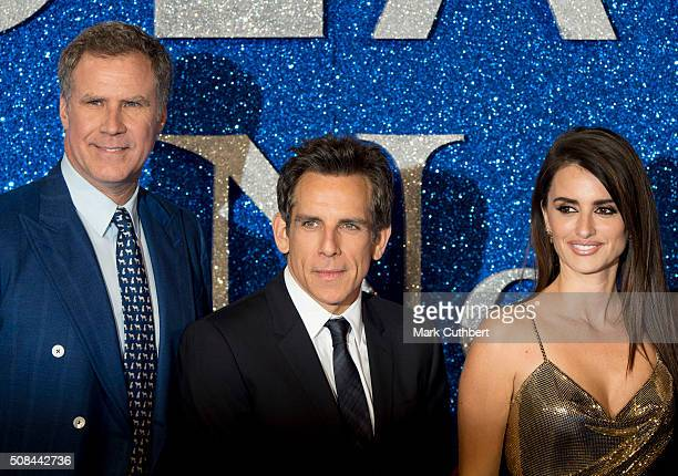 """Will Ferrell, Ben Stiller and Penelope Cruz attend a London Fan Screening of the Paramount Pictures film """"Zoolander No. 2"""" at Empire Leicester Square..."""
