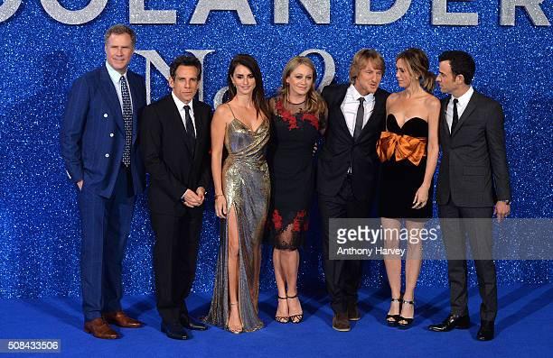 Will Ferrell Ben Stiller Penelope Cruz Christine Taylor Owen Wilson Kristen Wiig and Justin Theroux attend a London Fan Screening of the Paramount...