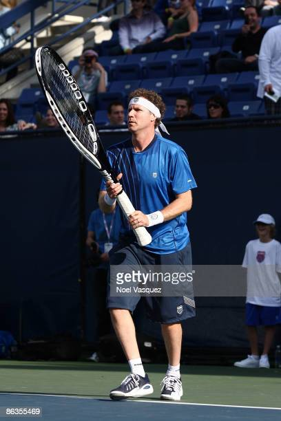 Will Ferrell competes at the KSwiss Global Tennis Showdown to benefit the Swedish School of LA at the Los Angeles Tennis Center at UCLA on May 2 2009...
