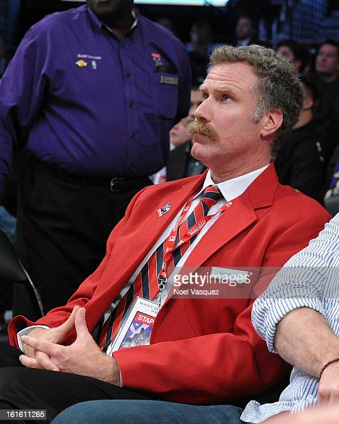 Will Ferrell dresses up as a Staples Center security guard at a basketball game between the Phoenix Suns and the Los Angeles Lakers at Staples Center...