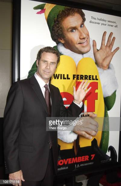 Will Ferrell during Elf New York City Premiere at Loews Astor Plaza in New York City New York United States