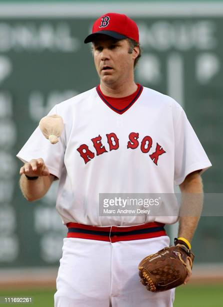 Will Ferrell during Will Ferrell and Meat Loaf Throw Out First Pitch at the Kansas City Royals vs Boston Red Sox Game July 17 2006 at Fenway Park in...