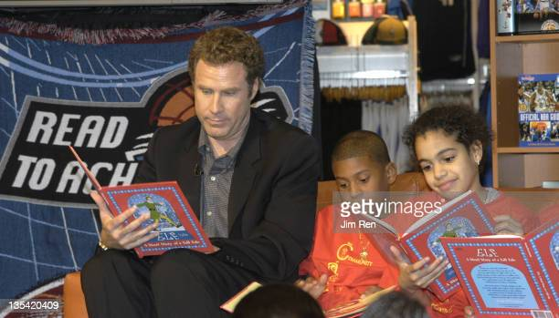 Will Ferrell during Will Ferrell Joins NBA's 'Read to Achieve' Program In A Reading Timeout To Encourage Reading Among Children at NBA Store in New...