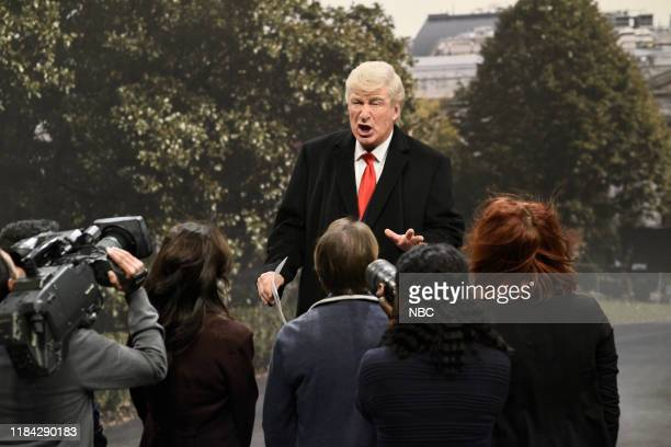 LIVE Will Ferrell Episode 1774 Pictured Alec Baldwin as Donald Trump during the Trump Helicopter Cold Open on Saturday November 23 2019