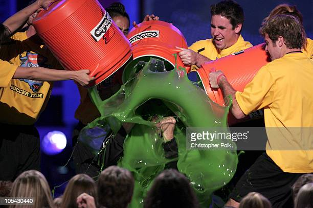 Will Ferrell gets slimed during Nickelodeon's 18th Annual Kids Choice Awards Show at Pauley Pavilion in Los Angeles California United States