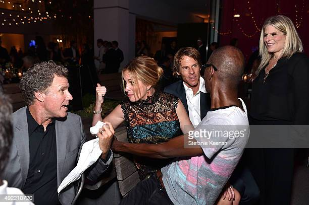 Will Ferrell Julia Roberts wearing Bottega Veneta Mark Bradford and Daniel Moder attend Hammer Museum's Gala in the Garden Sponsored by Bottega...