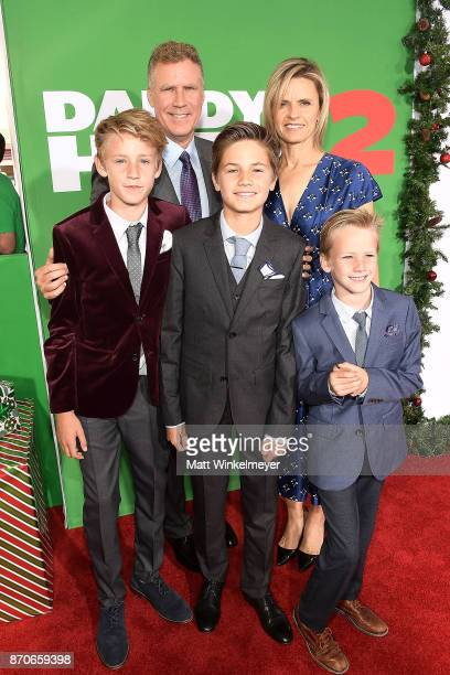 Will Ferrell Magnus Paulin Ferrell Mattias Paulin Ferrell and Axel Paulin Ferrell attends the premiere of Paramount Pictures' Daddy's Home 2 at...