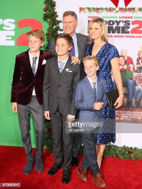 Will Ferrell Magnus Paulin Ferrell Mattias Paulin Ferrell and Axel Paulin Ferrell attend the premiere of Paramount Pictures' 'Daddy's Home 2' on...