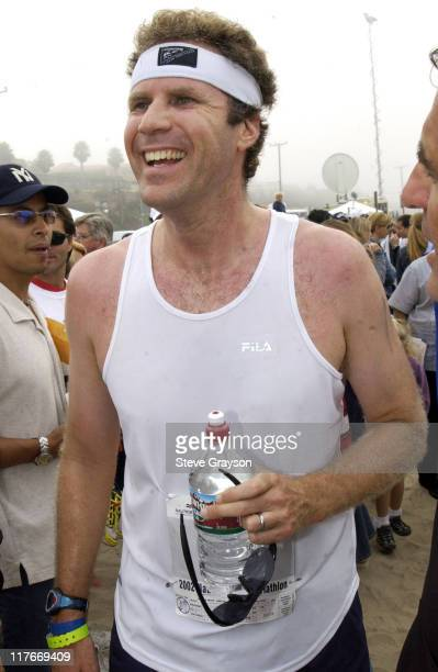 Will Ferrell of 'Saturday Night Live' cools down with Arrowhead Water after the Nautica Malibu Triathlon