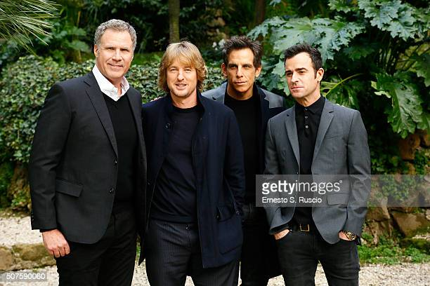 Will Ferrell Owen Wilson Ben Stiller and Justin Theroux attend the Photocall for the Fan Screening of the Paramount Pictures film 'Zoolander No 2' at...