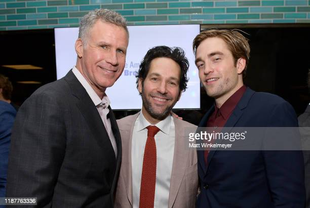 Will Ferrell Paul Rudd and Robert Pattinson attend the Hollywood Foreign Press Association and The Hollywood Reporter Celebration of the 2020 Golden...