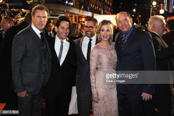 Will Ferrell Paul Rudd Steve Carell Christina Applegate and David Koechner attend the UK premiere of Anchorman 2 The Legend Continues at The Vue West...