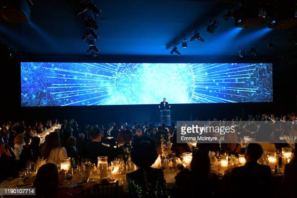 Will Ferrell speaks onstage during the 2019 LACMA Art Film Gala Presented By Gucci at LACMA on November 02 2019 in Los Angeles California