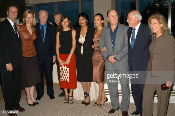 Will Ferrell, Viveca Ferrell, Michael Caine, Robert Shaye, a guest, Shakira Caine, Robert Duvall and guest, Michael Lynne and guest