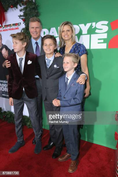Will Ferrell Viveca Paulin Magnus Paulin Ferrell Mattias Paulin Ferrell and Axel Paulin Ferrell attend the Los Angeles Premiere of 'Daddy's Home 2'...