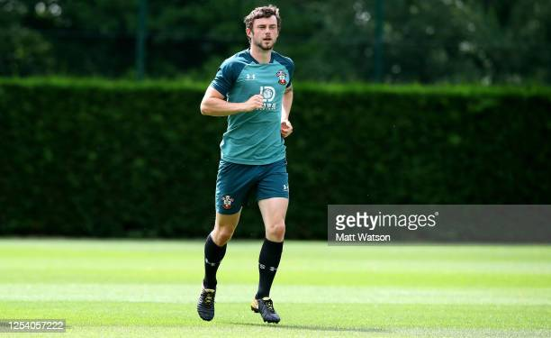Will Ferry during a Southampton FC training session at the Staplewood Campus on July 03, 2020 in Southampton, England.