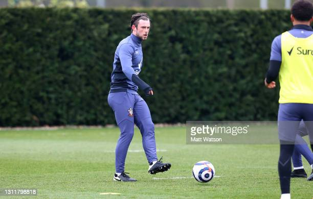 Will Ferry during a Southampton FC training session at the Staplewood Campus on April 10, 2021 in Southampton, England.