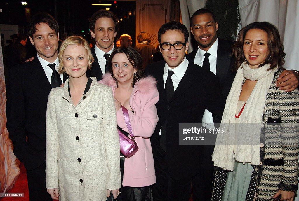 Will Forte, Amy Poehler, Seth Meyers, Rachel Dratch, Fred Armisen, Finnesse Mitchell and Maya Rudolph of 'Saturday Night Live'