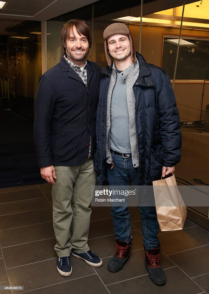 Will Forte (L) and Jason Ritter vists at SiriusXM Studios on February 27, 2015 in New York City.