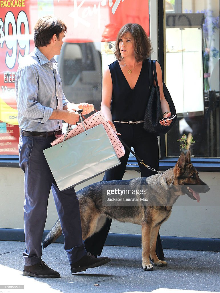 Will Forte and Jennifer Aniston as seen on July 17, 2013 in New York City.