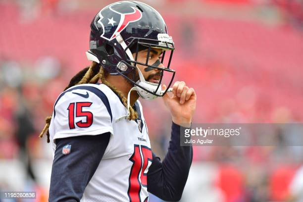Will Fuller of the Houston Texans looks on during warmup before a game against the Tampa Bay Buccaneers at Raymond James Stadium on December 21, 2019...